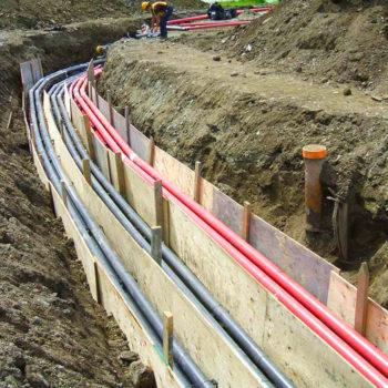 Lignes électrique souterraines
